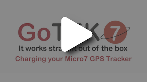 Charging your Micro7 GPS Tracker