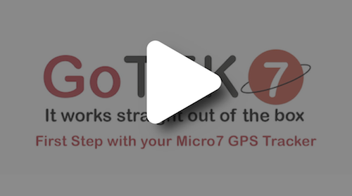 First Step with your Micro7 GPS Tracker